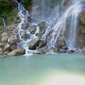 Nature landscapes in Gramsh: Sotira Waterfall, the Black Lake, Canyon of Holta
