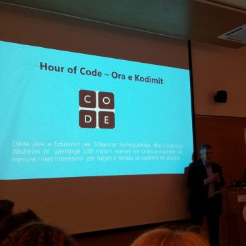 Hour of Code event held on December 11, by Microsoft Albania