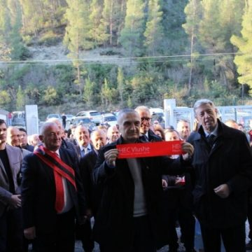 The 16 ml EUR 'HEC Vlushën' hydroelectric power plant inagurated in Corovode, Skrapar