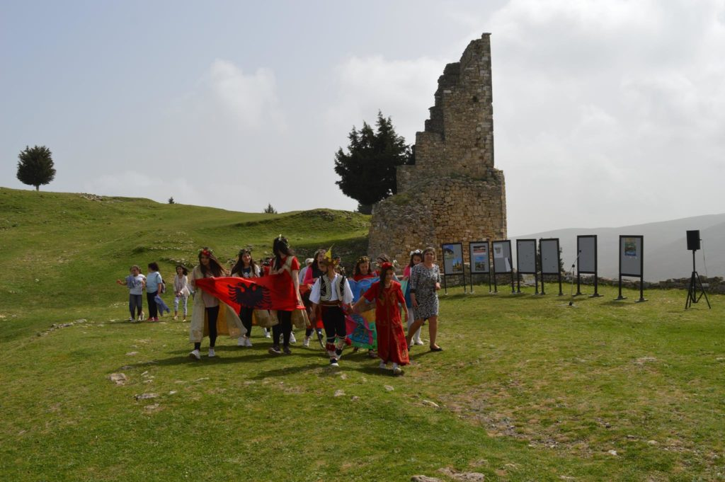 children in kanina castle vlora