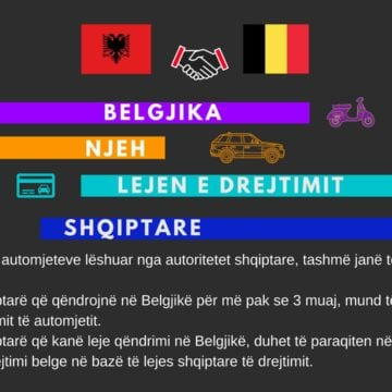 Belgium Recognizes Albanian Driving Licenses