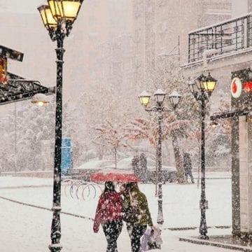 Korca Sees First Snowfall of the Season