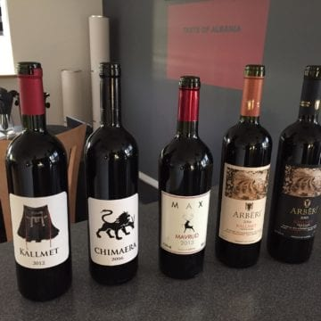 Albanian Wine Now for Sale in Denmark