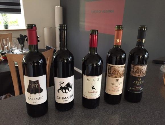 Albanian Wine Now for Sale in Denmark