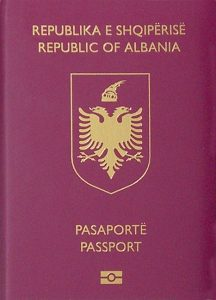 Albanian biometric passport