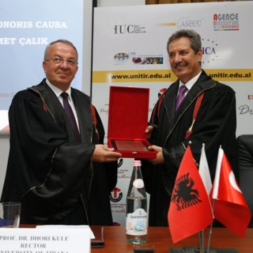 "Turkish investor Ahmet Calik awarded with the honorary title ""Doctor Honoris Causa"""