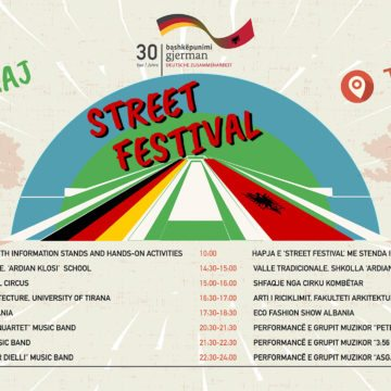 Street Festival to Celebrate Albania-Germany 30 years of Development Cooperation Bond