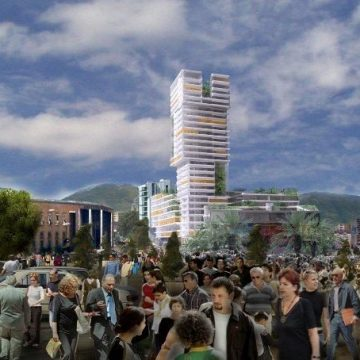 'Eyes of Tirana' New Building will Tower Over City Center