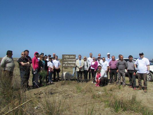 Crown Agents plants 700 pine seedlings in Divjake-Karavasta Park