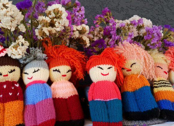wool dolls made by Kukesi Artisans