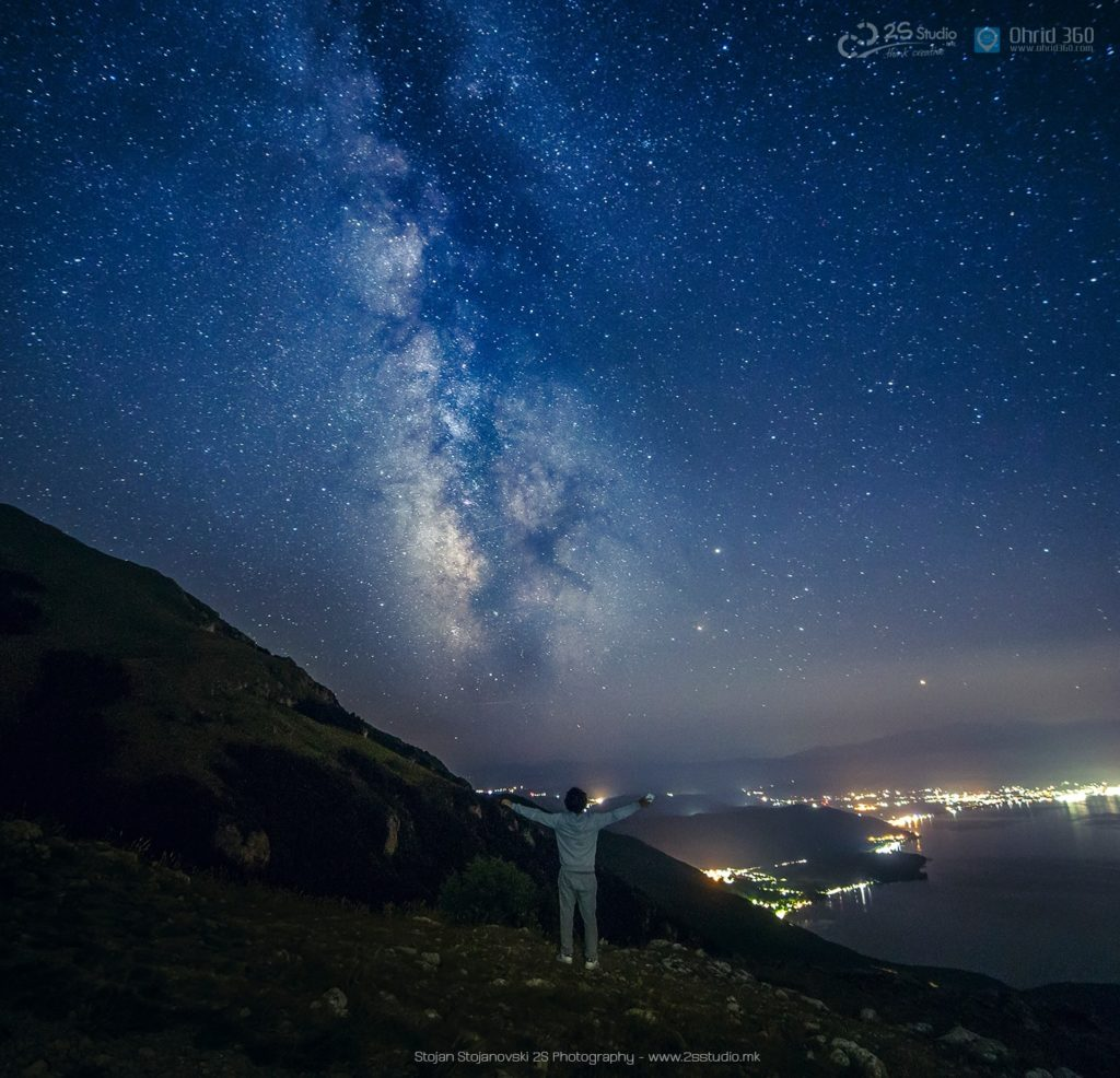 Night sky photos Albania