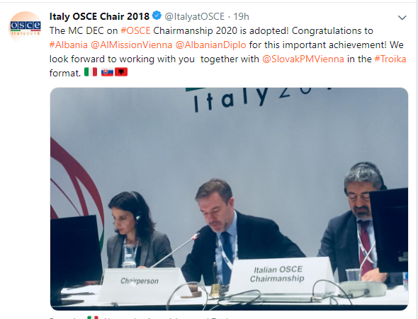 Albania OSCE Chair 2020