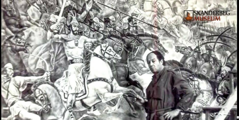 Naxhi Bakalli painting Skanderbeg Museum