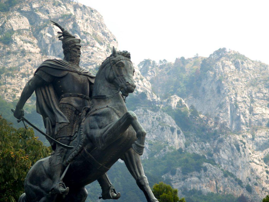 Skanderbeg Monument in Kruja