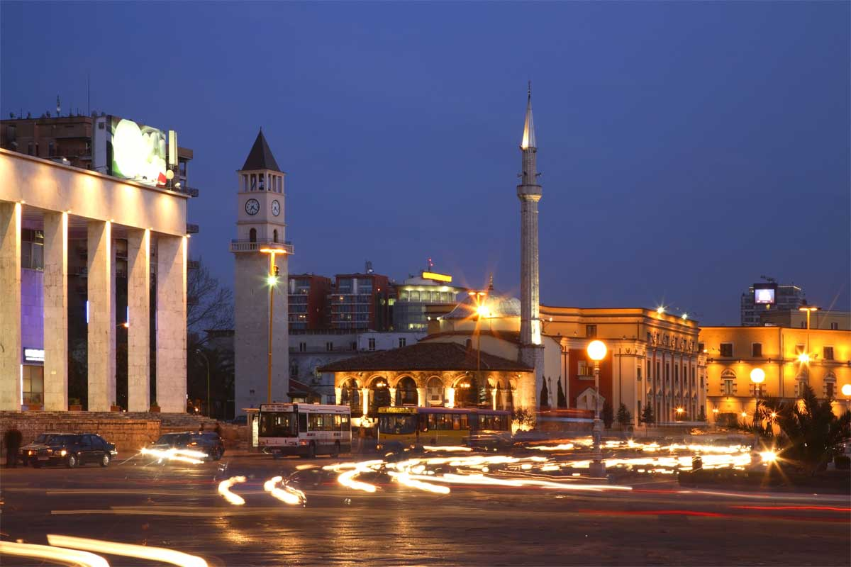 Tirana-at-night