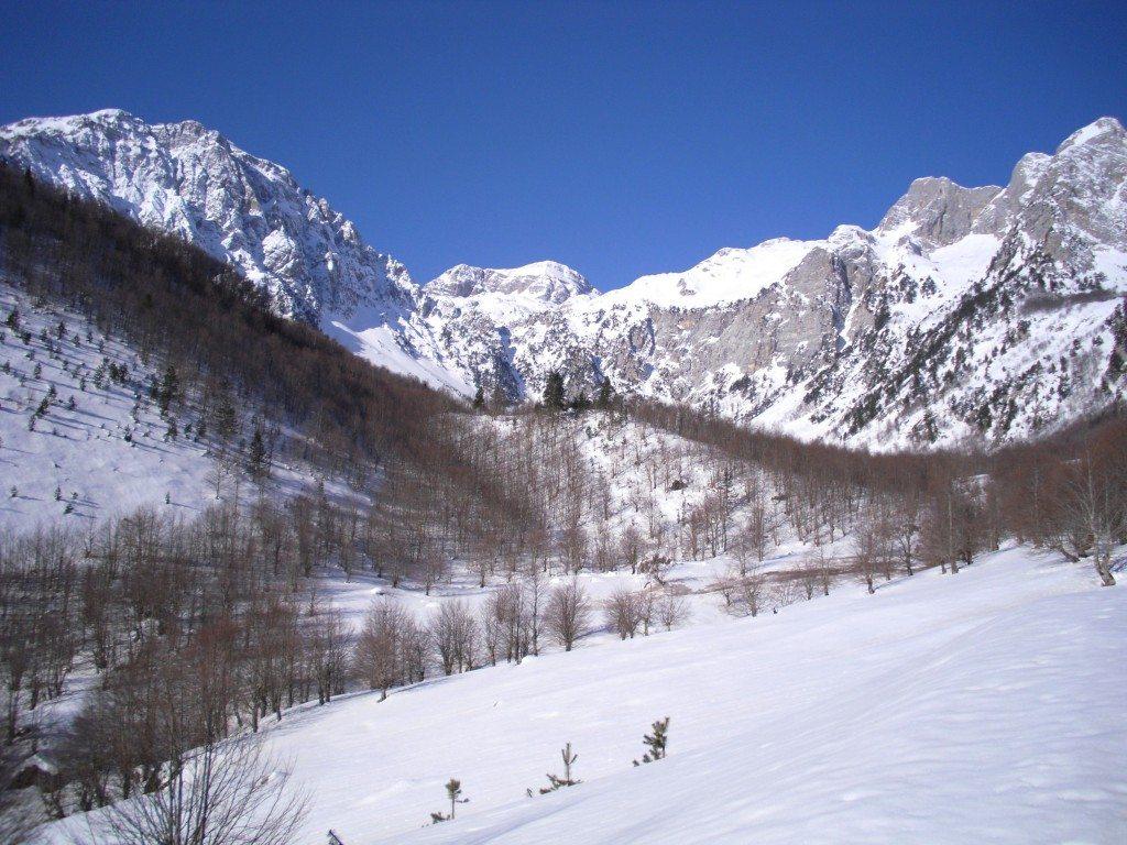 Valbone Albania snow