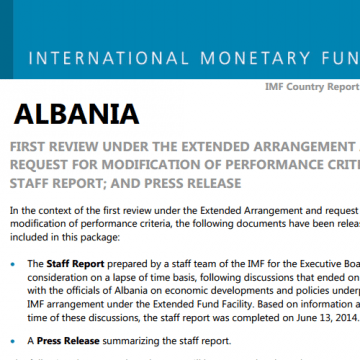 IMF report: Albania's goverment performance is positive