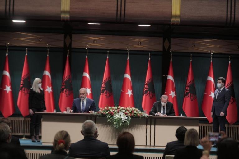 Albania-Turkey Agree to Upgrade Ties to Strategic Partnership