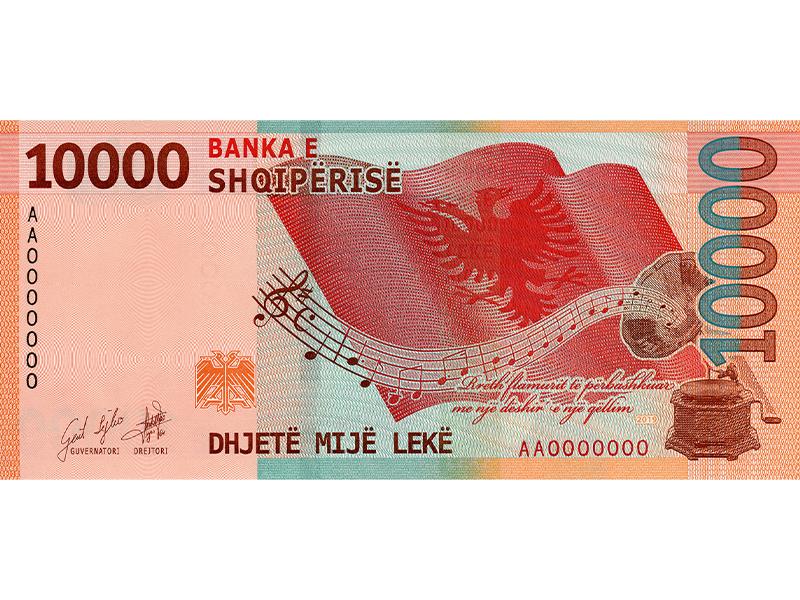 New Lek 10000 banknote