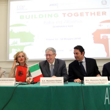 "Italian ambassador Gaiani evaluates ""Italia ed Albania – Building Together"" initiative"