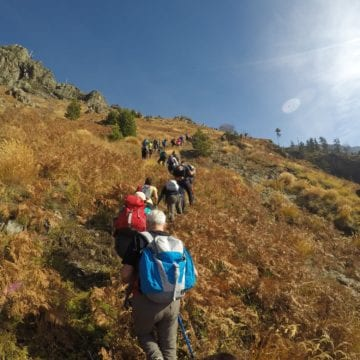 Hiking in the Mountain of the Balkan Lynx