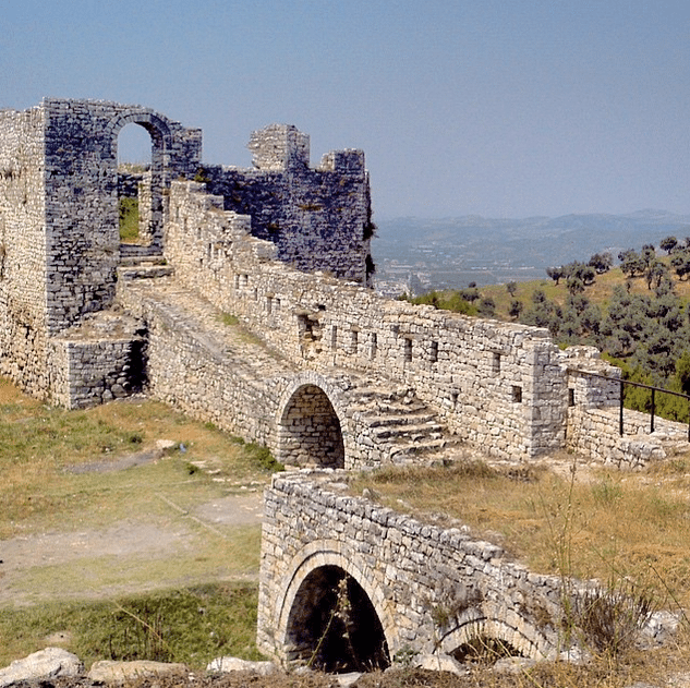 Castle of Berat in summer