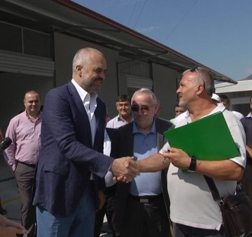 The first modern agricultural market opened in Elbasan