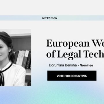 Albanian Student Competes for 'European Women of Legal Tech' Award