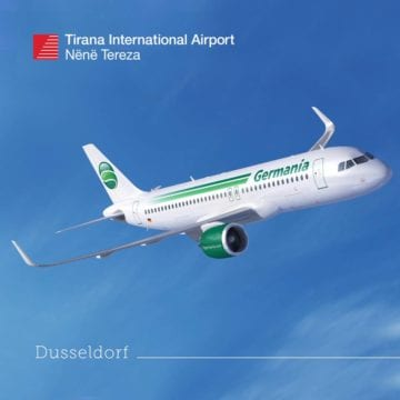 Tirana-Dusseldorf Route Coming in May 2019, Tickets Available