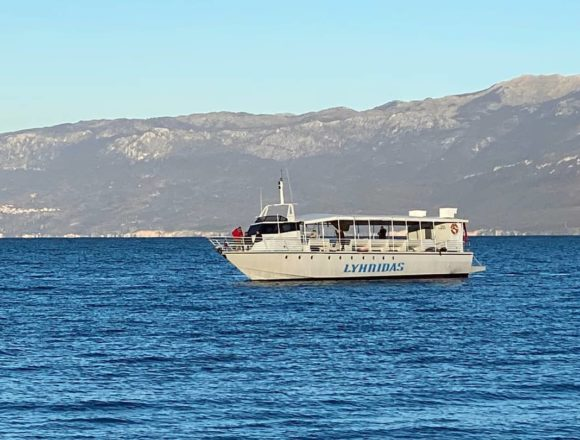 Lyhnidas Boat Tests new Ohrid Lake Tour Service