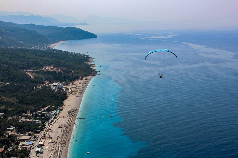 paragliding southern Albania