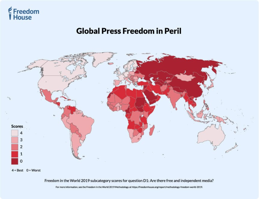Freedom House Ranks Albania in the Middle Regarding Free Press