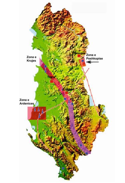 Geothermal map Albania