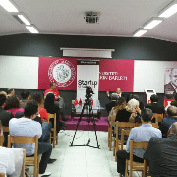 Turkish businessman Baybars Altuntas shares his thoughts on entrepreneurship, in Tirana