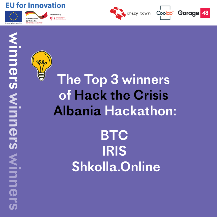 Innovation in Times of COVID-19: Winners of 'Hack the Crisis Albania Announced