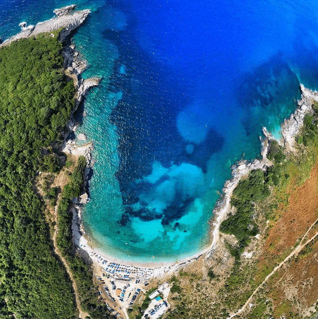Manastiri beach from above