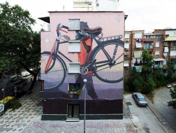 Artists Create 13 Amazing Large Scale Street Art Murals in Tirana