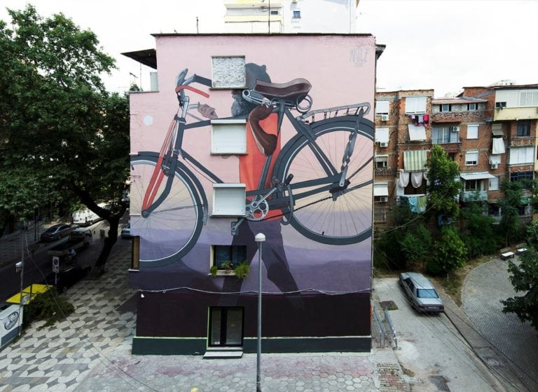 Artists Create 13 Amazing Large Scale Street Art Murals in Tirana