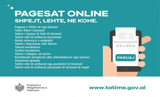Online tax payment Albania