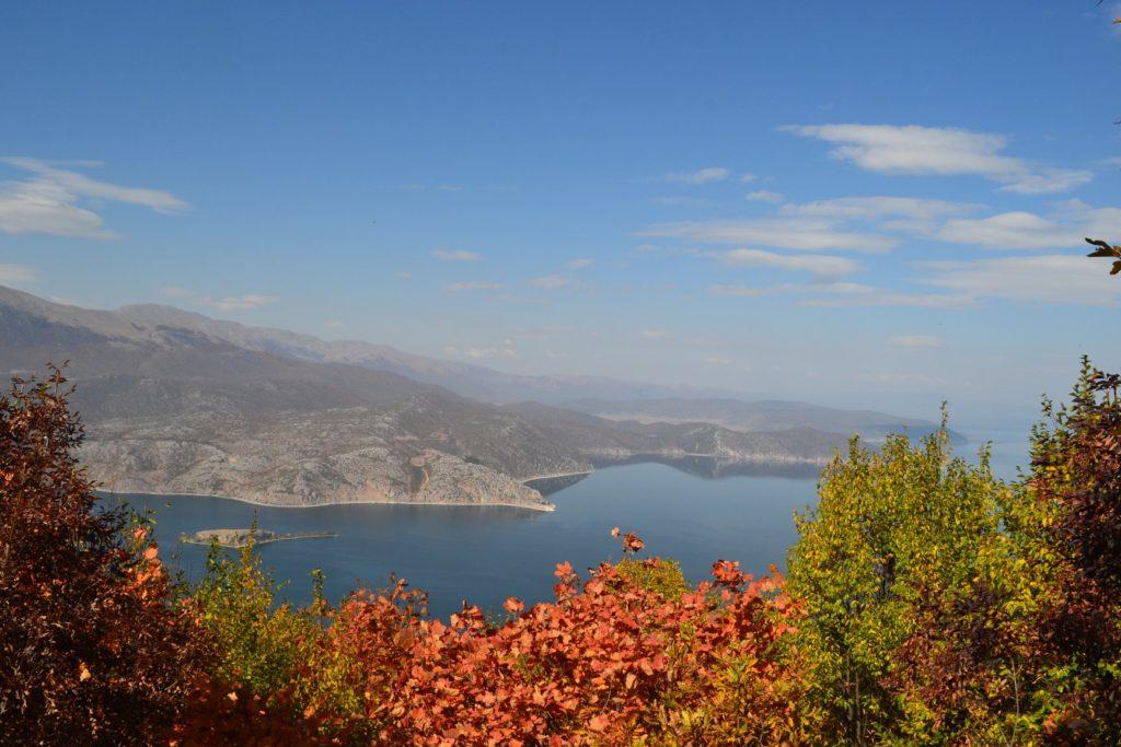 Prespa lake in autumn