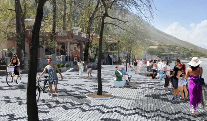 ADF Starts Reconstruction of Shiroka's Square with Mosaic Tiles