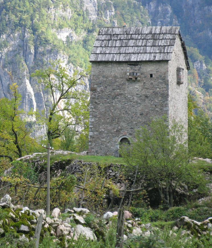 tower in theth, Albania