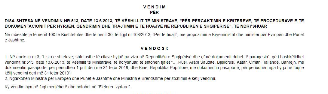visa-free Albania